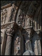 Detalle Pórtico de Santa María de Ripoll (Ripoll Girona Catalunya)