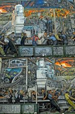 Detroit Industry, Diego Rivera, North Wall, 1932-33. Detroit Institute of Arts