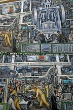 Detroit Industry, Diego Rivera, South Wall, 1932-33. Detroit Institute of Arts