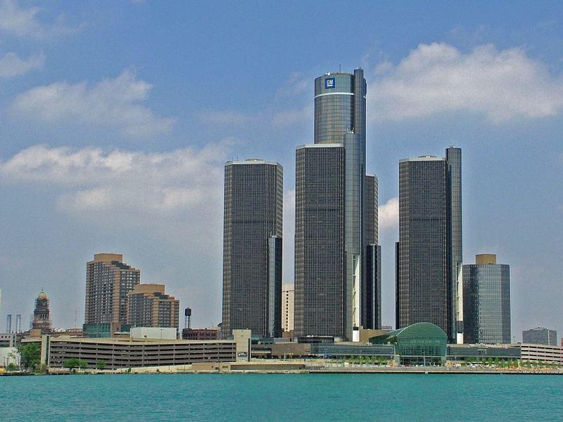 Detroit USA, von Canada gesehen.