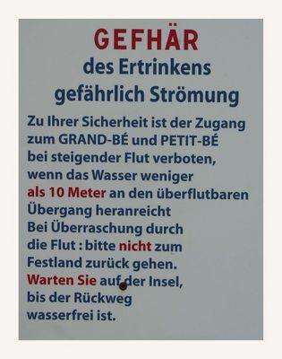 Deutsch- französische Gefahr ....... ?