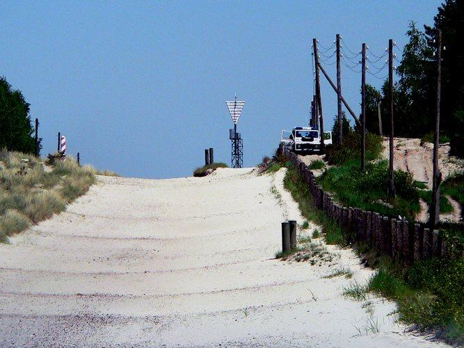 Deutsch - Polnische Grenze auf Usedom