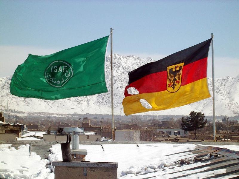 Deutsche Flagge über Kabul