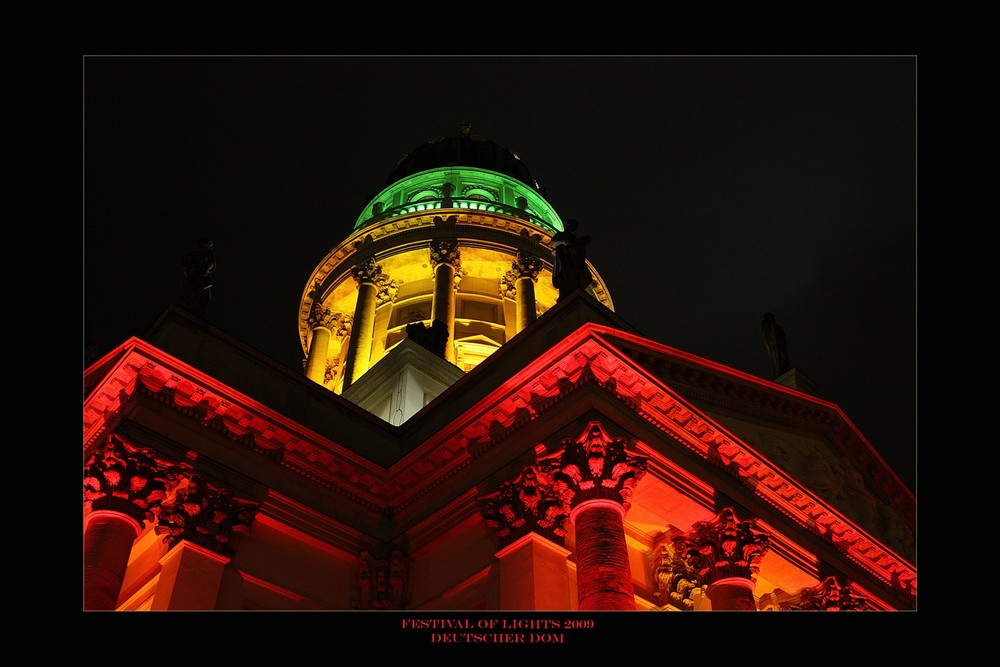 Deutscher Dom beim Festival of Lights 2009