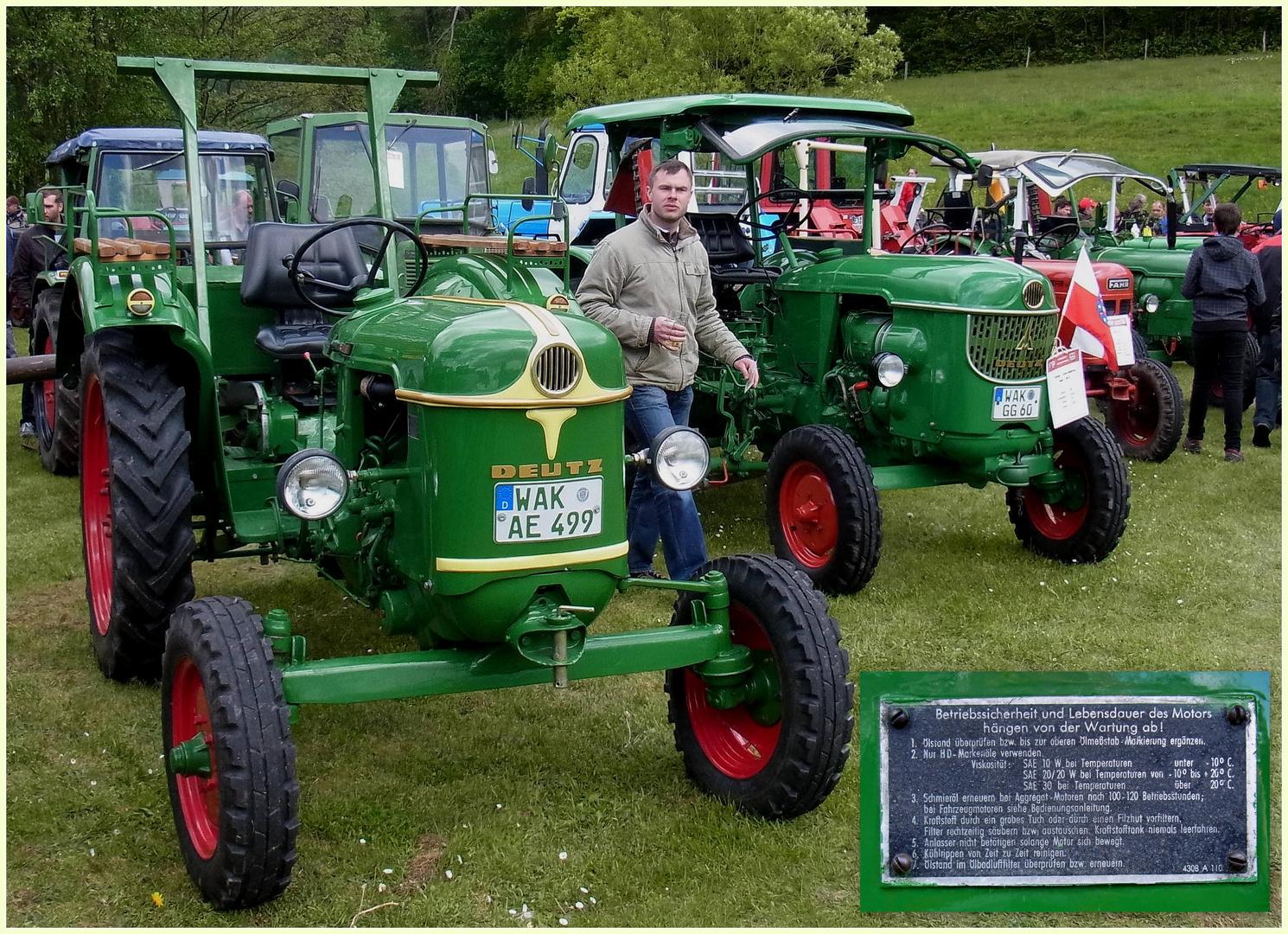 Deutz-FAHR Traktoren auf dem 4. Mosbacher Schleppertreffen 2014