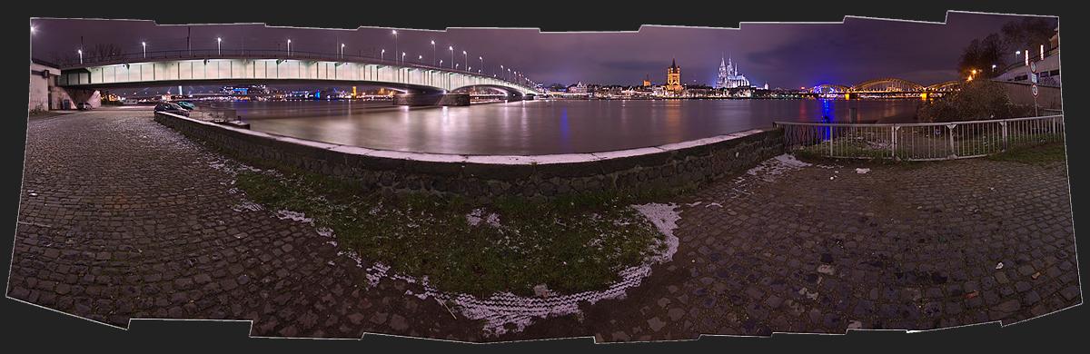 Deutzer Brücke -> St.Martin -> Moet -> The Dome -> Hohenzollern Brücke
