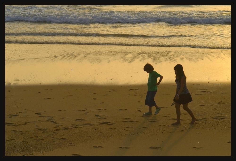 Deux enfants au soleil........
