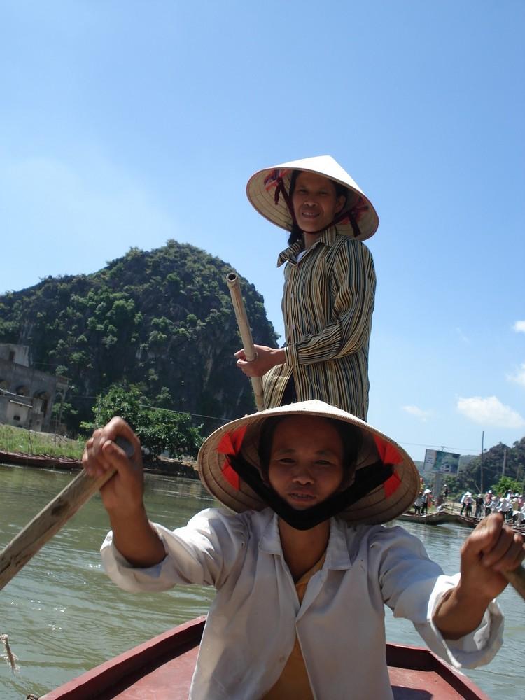 Deux rameuses vietnamiennes