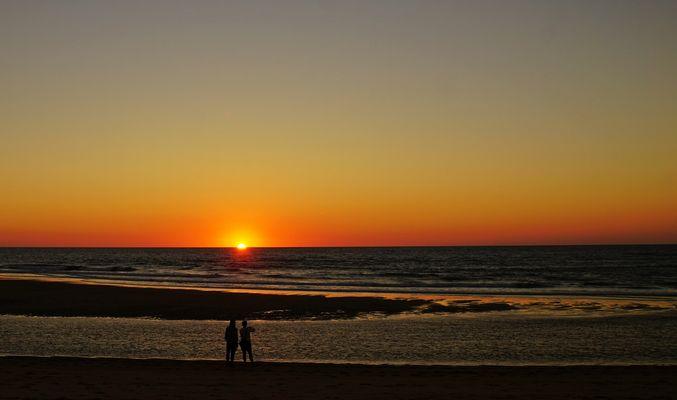 Devant la mer, un soir......