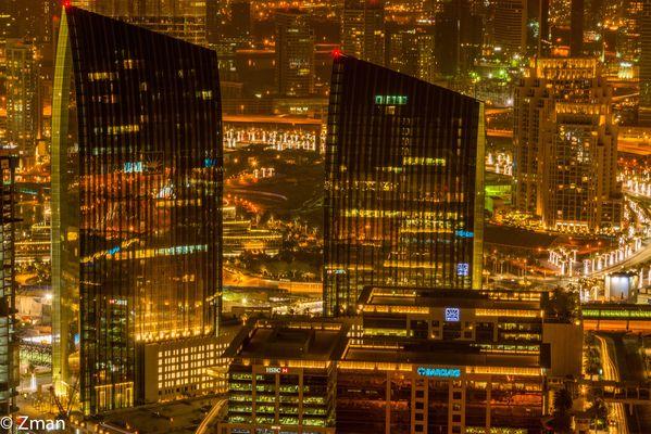 Developments Near Burj Khalifa at Night