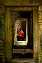 Devoted Monk at Angkor Wat
