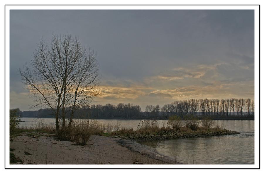 Dezembernachmittag am Rheinstrand