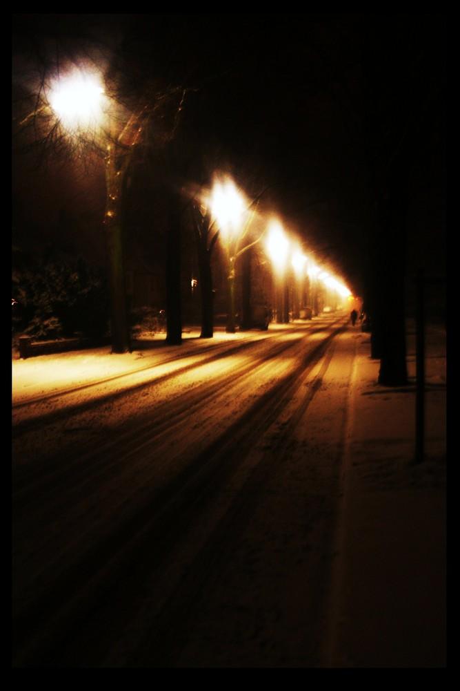 di neve su strada