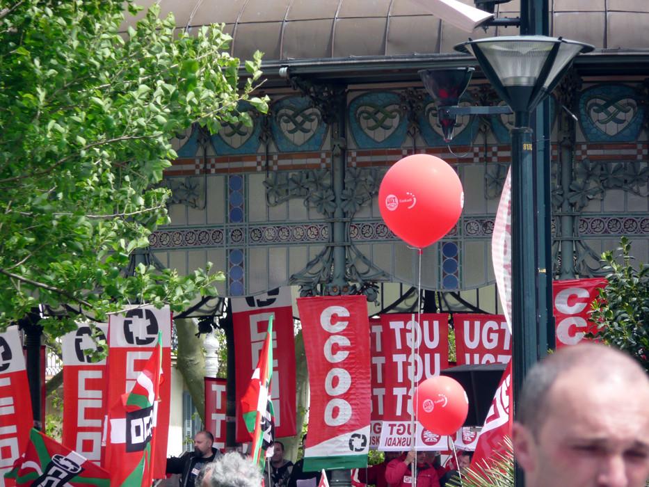 Día del trabajador en Donosti