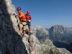 Diashow : Dolomiten_Klettersteig, Toblingerknoten.