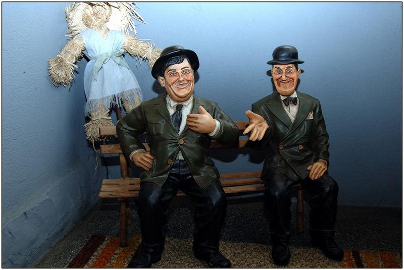 Dick und Doof bei uns zu Besuch:-)
