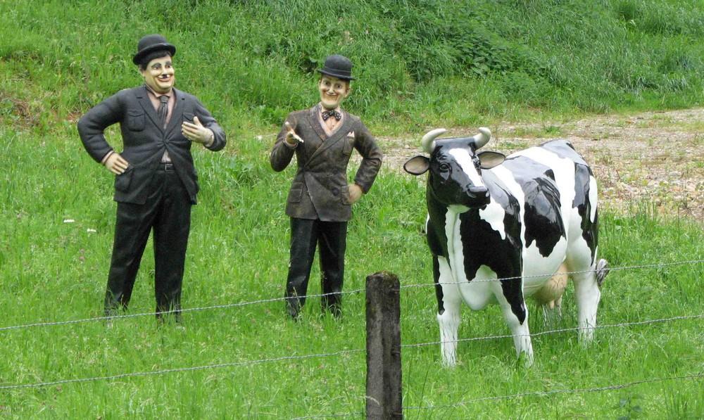 Dick und Doof und Kuh