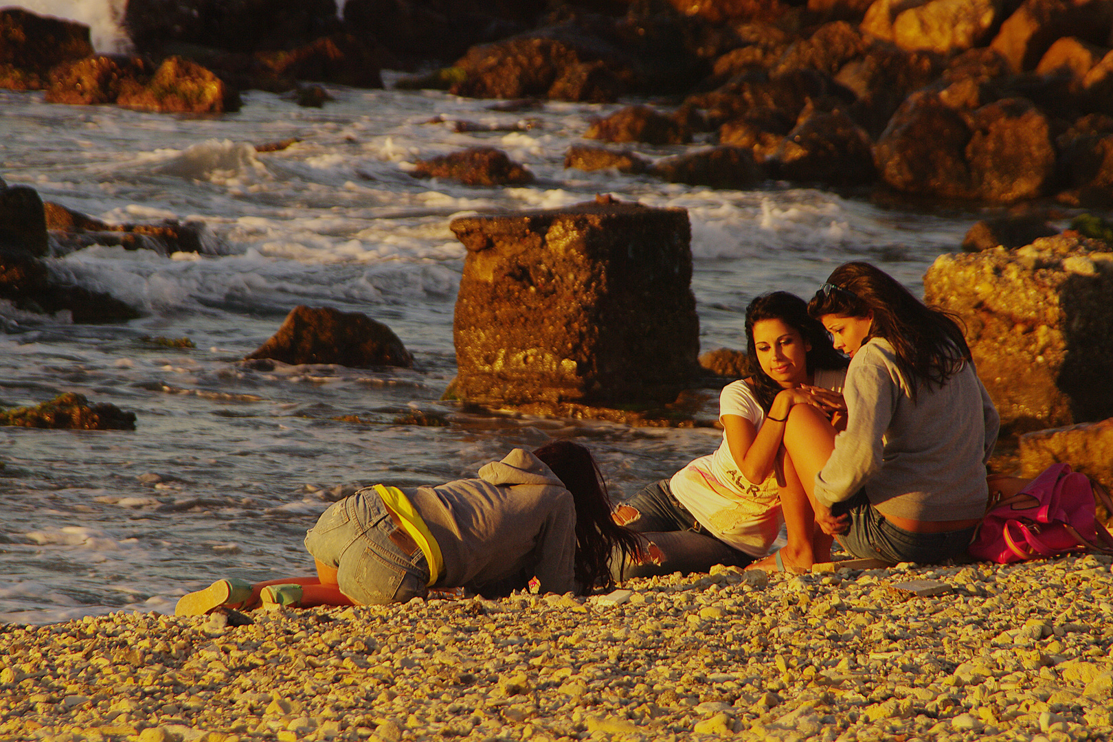 Die 3 am Strand