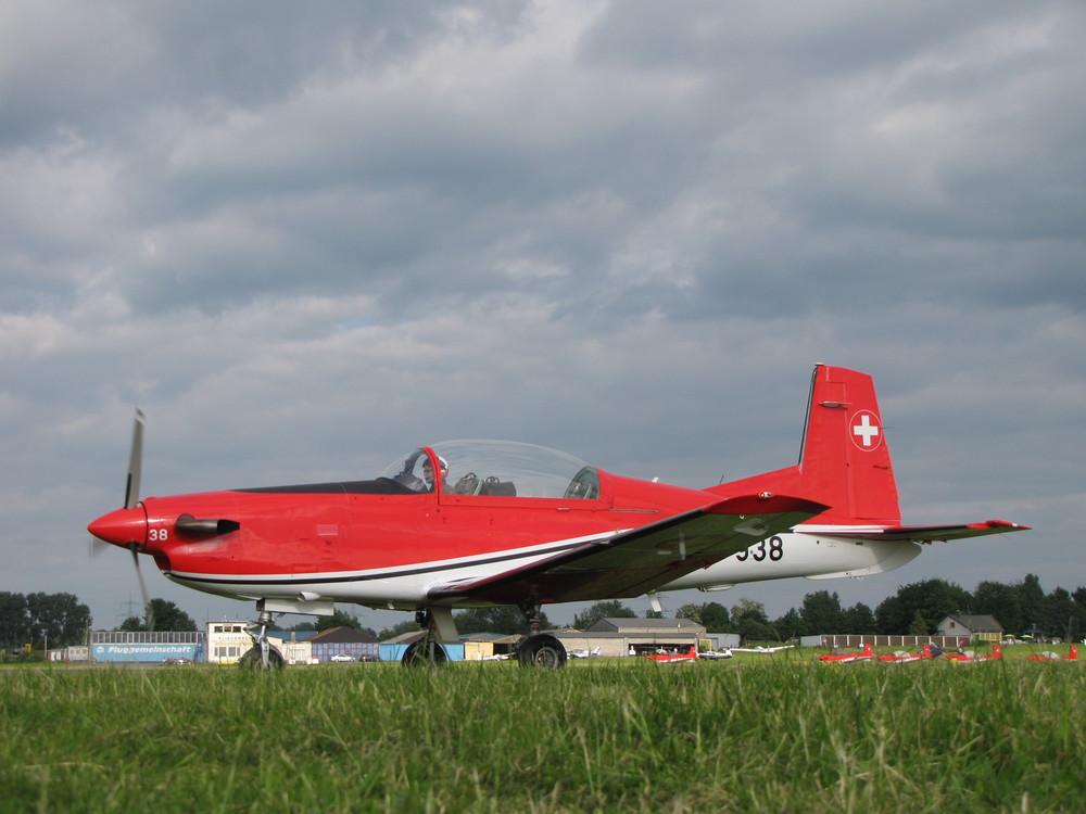 Die A-938 nach ihrem Display auf dem Weg zum Tanken