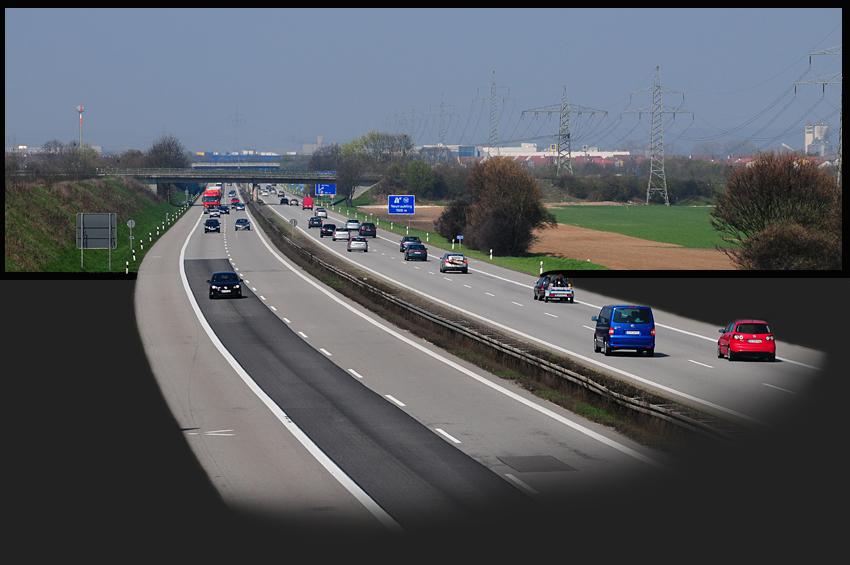 die A3 vor Regensburg