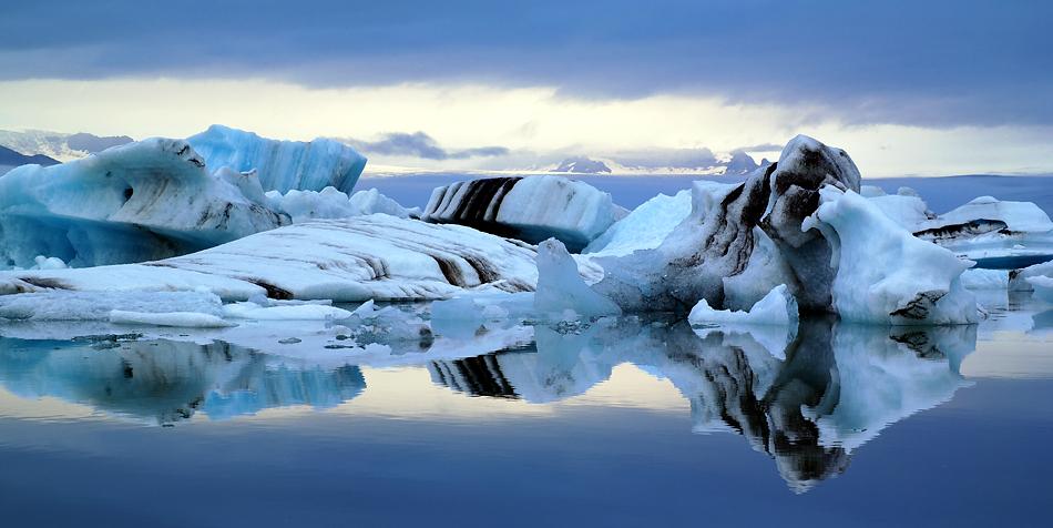 Die Abendruhe über der Gletscherlagune A