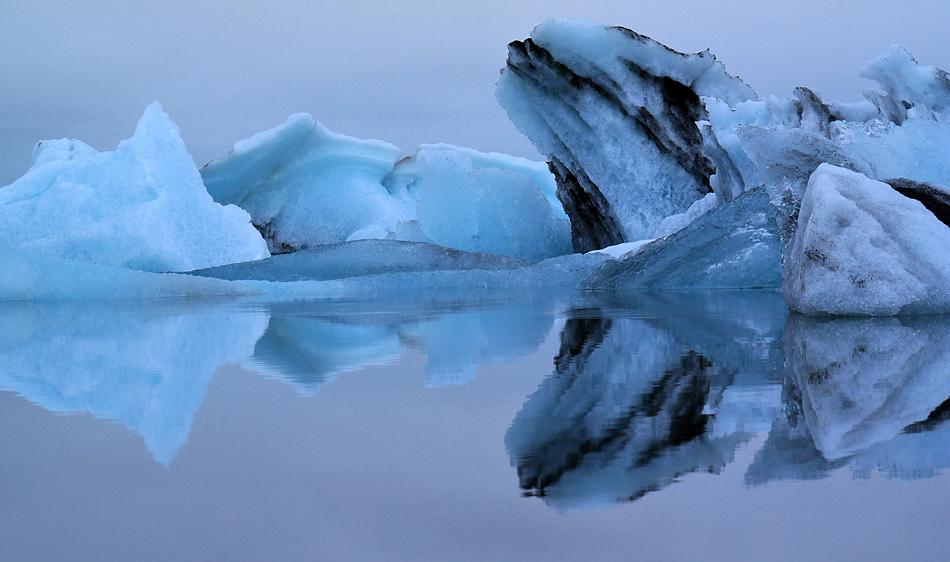 Die Abendruhe über der Gletscherlagune B