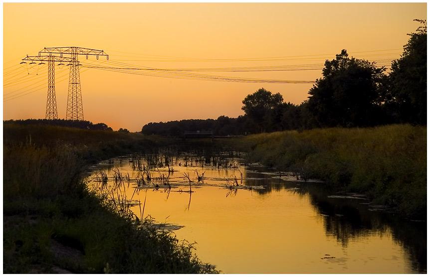 Die Abendsonne ...