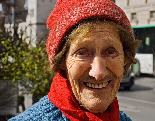 Die älteste Marktfrau ...