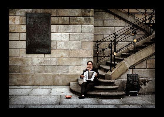 Die Akkordeonspielerin