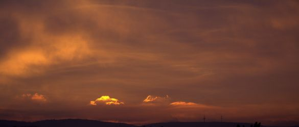 Die allerletzten Sonnenstrahlen des Abends ....