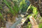 Die Almbach Klamm - wenn das Wasser ins Tal fließt