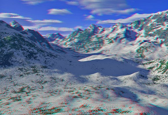 Die Alpen (3D rot/cyan)