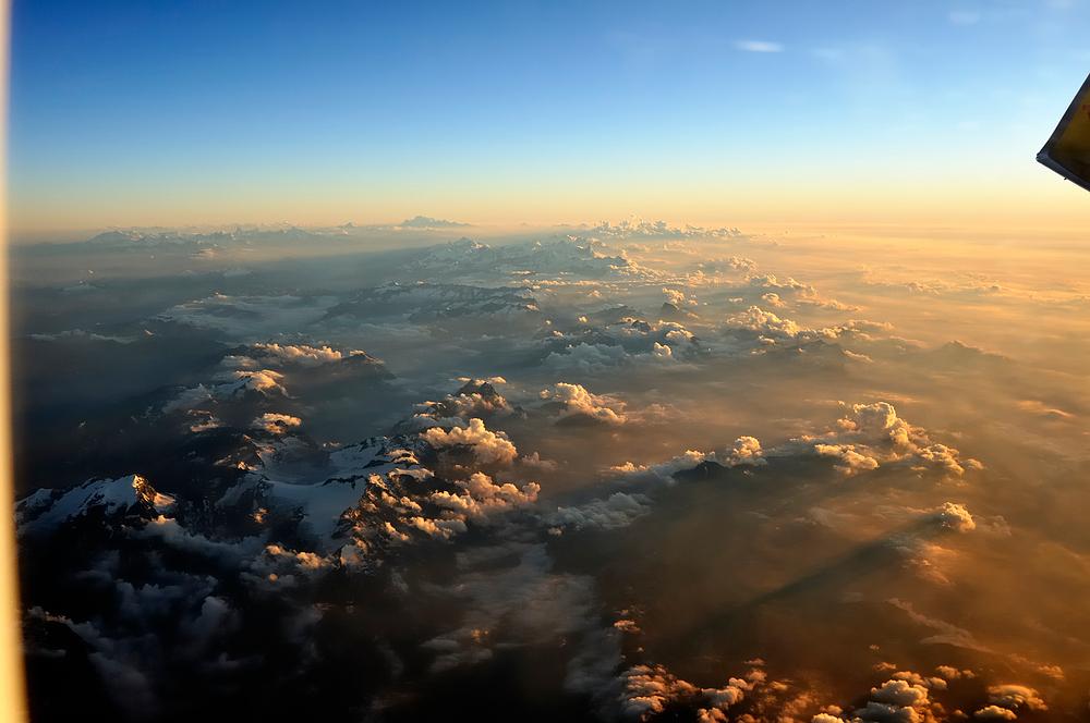 Die Alpen im Abendlicht