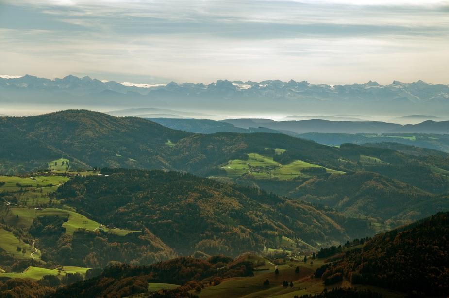 Die Alpen vom Belchen aus gesehen