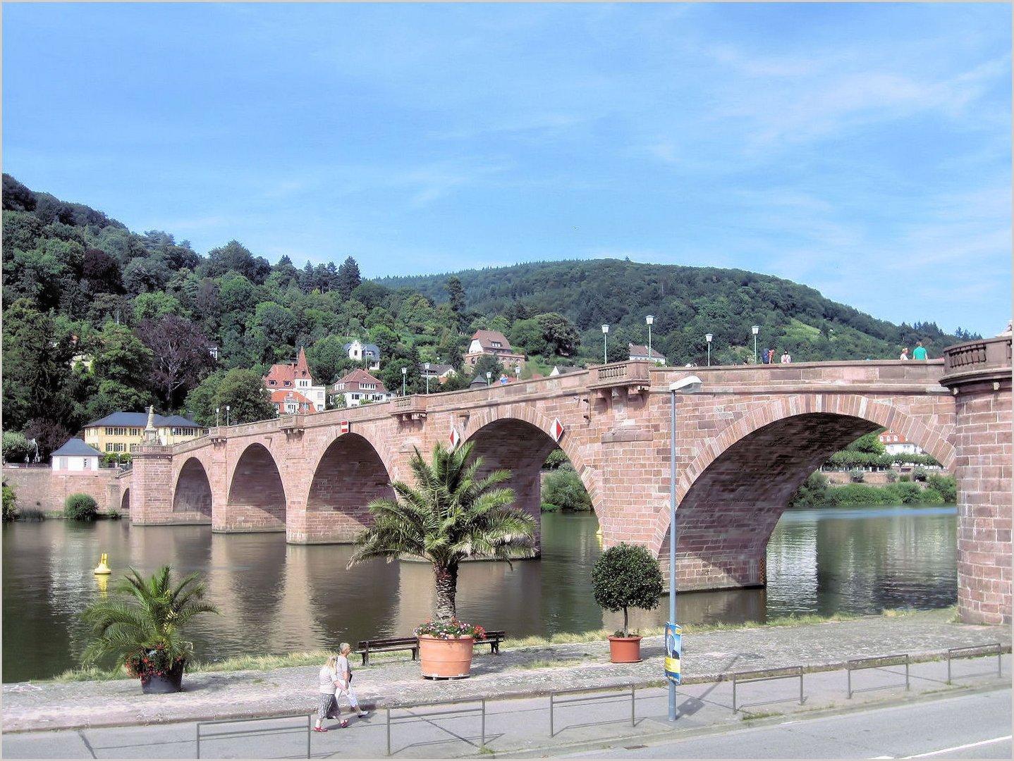 """Die """"Alte Brücke"""" in Heidelberg"""