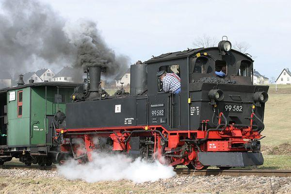 die alte Dampfeisenbahn......