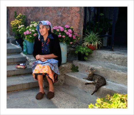 """""""Die alte Frau und die Katze"""""""