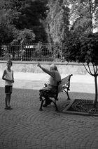 die Alte und der Junge