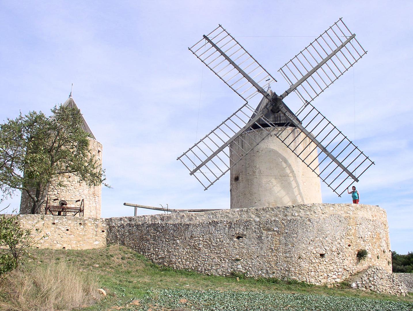 die alten Mühlen von Régusse