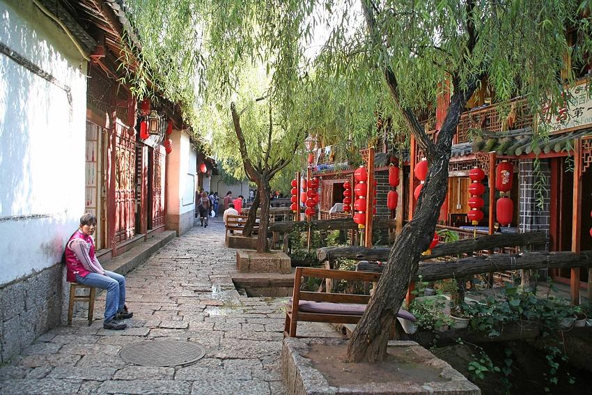 Die Altstadt von Lijiang...