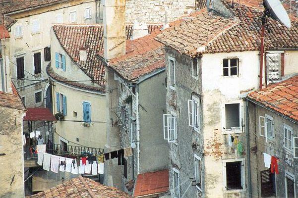 Die Altstadt von Porec auf Istrien