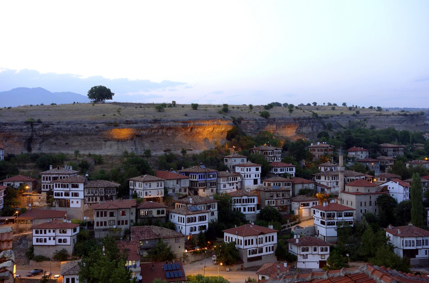 Die Altstadt von Safranbolu unter dem Baum