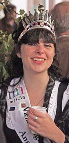 Die amtierende Merziger Viezkönigin Annika I.