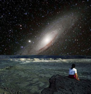 Die Andromeda-Galaxy M31 vor unserer Haustüre