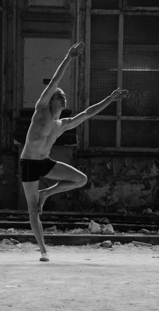 die Anfänge meiner Ballett/Akrobatikserie