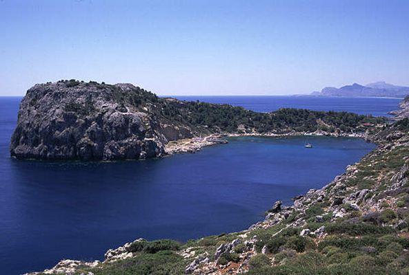 Die Anthony-Quinn-Bucht auf Rhodos