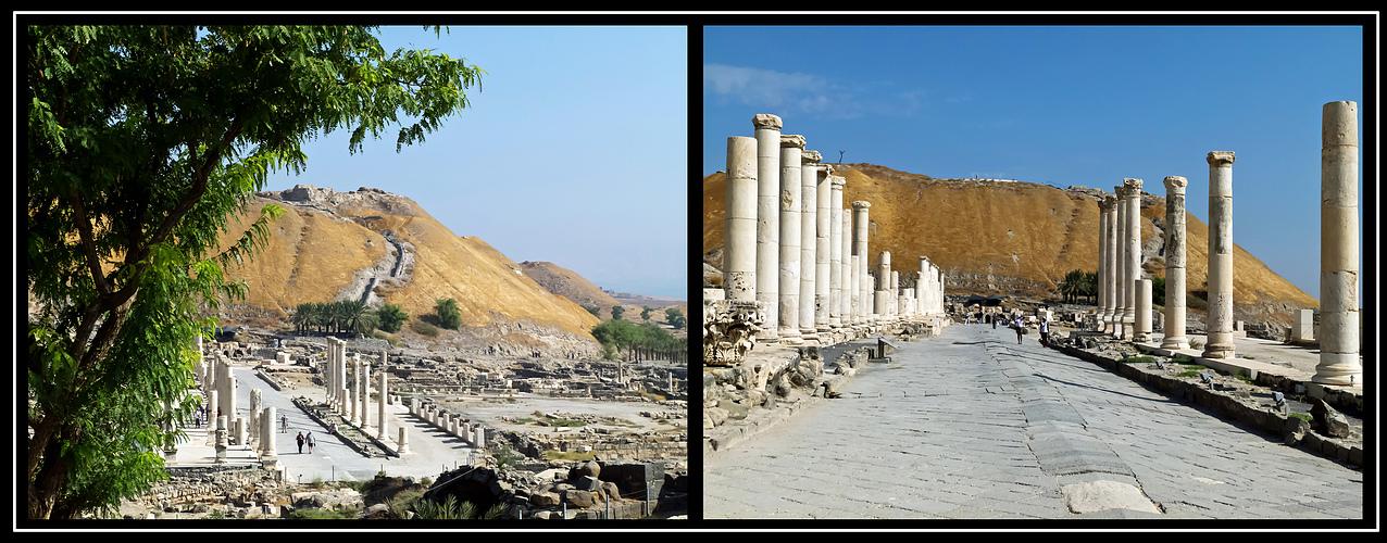 Die antike Stadt Bet She'an als Beispiel für die vielen antiken Stätten