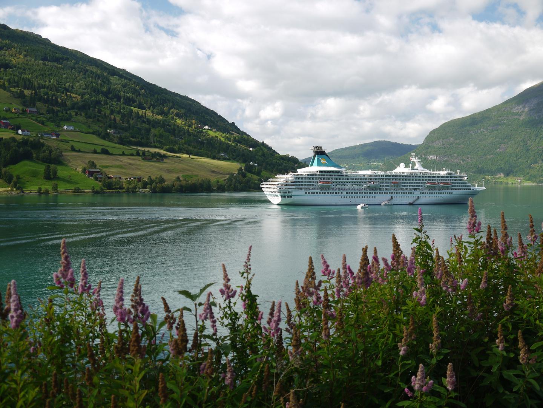 Die Artania im Nordfjord