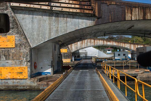 Die atlantikseitige Querung des Panamakanals...