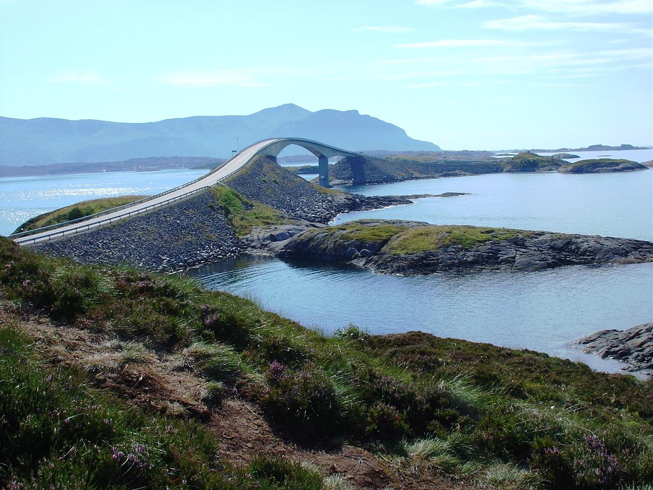 Die Atlantikstrasse in Norwegen